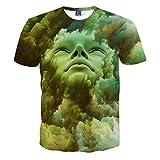 Itopfoxjp メンズ 3d リアル プリント tシャツ ユニセックス おもしろ 半袖 夏 tshirt プリント スウェット キャラクター ヒップホップ デザイン おしゃれ ストリート風