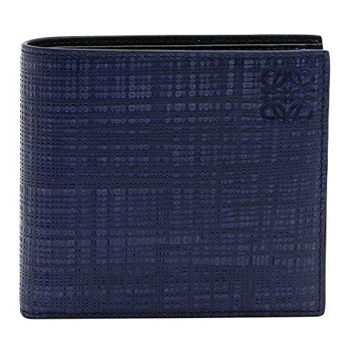 (ロエベ )LOEWE メンズ 財布 2つ折 エンボス加工 レザー (ネイビーブルー) 101.88.978 2071 5110/NAVY BLUE [並行輸入品]