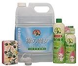 緑の魔女 ランドリー 業務用 5L プレミアムセット (洗濯用洗剤 5L、食器用洗剤 本体240ml+つめかえ450ml、キッチンスポンジ、詰替ノズル)