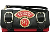 Women Wallet Compatible for Harry Potter Hogwarts 9 3/4 Badge Trifold Wrist Band Clutch Wallets