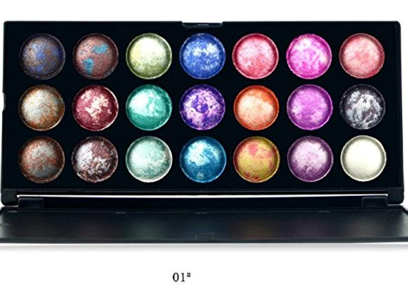 干渉する補正分MakeupAcc 焼きアイシャドウ 21色 カラフル 乾式と湿式 (01) [並行輸入品]