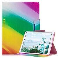 Ffish Apple iPad Air 2 / Airのケース、スタンドとカードスロット、 軽量、PUレザースマートカバー、為にApple iPad Air 2 / Air - 虹