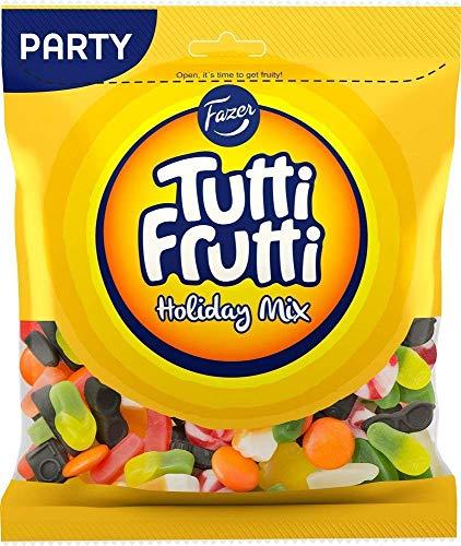 Fazer Tutti Fruttiトゥッティ フルッティ ホリデーミックス リコリス チョコレート フルーツ味 グミ 350g* 12袋セット フィンランドのお菓子です [並行輸入品]
