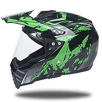 (WSY) 新品出荷 春、夏、秋、冬バイク用ヘルメットPSC付き オフロード ヘルメット 多色選択可能 WSY-WLT128-2 (商品10, 2XL)