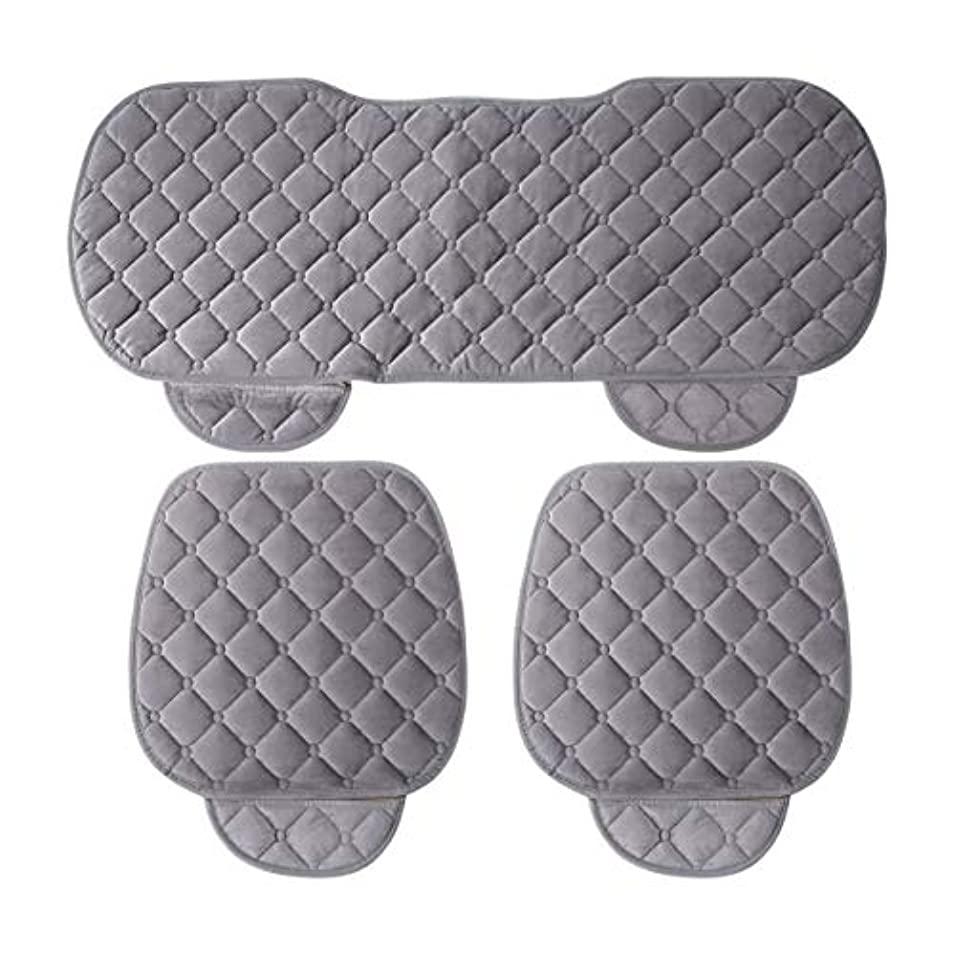 道徳の哲学博士聡明3PCS /セットカーシートクッションフロントバックシートは、自動車チェアパッドのマットカバー