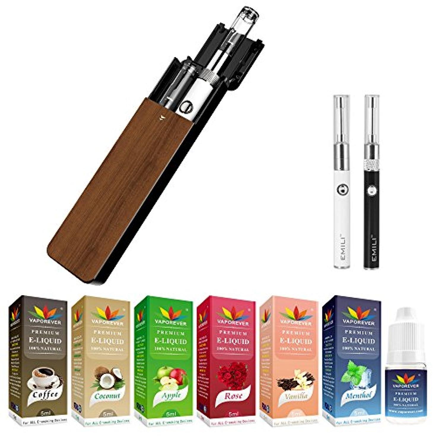 あさりカウンターパート注ぎますsmiss エミリミニ EMILI MINI 電子タバコ リキッド 10本セット ウッド