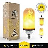 [アップグレード] LED炎効果ライト電球、Upside DownちらつきLED Flame電球、e26エジソンベース、装飾Flame Light Bulbs forインドアアウトドアビンテージAtmosphere照明休日、パーティー、ホーム装飾