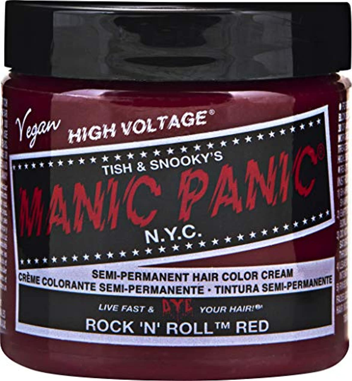 話す高い世界MANIC PANIC Cream Formula Semi-Permanent Hair Color - Rock 'n' Roll Red (並行輸入品)