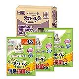 【Amazon.co.jp限定】デオトイレ 猫用 サンド 飛び散らない消臭 抗菌サンド 4L×3袋 おしっこ ペット用品 ユニチャーム