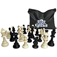 'Plastic Filled, Tournament Style, Staunton Chess Pieces with 3 3/4 Inch King' [並行輸入品]