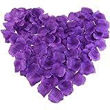 シルクバラ 花びら 紫色 1000枚セット結婚式 誕生日 お祝い ム