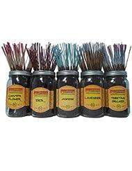 Wildberry Incense Sticks Florals & Greens Scentsセット# 1 : 20 Sticks各5の香り、合計100 Sticks 。