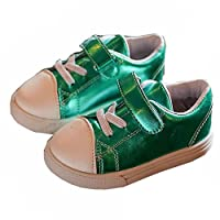 [XINXIKEJI キッズ シューズ キャンバスシューズ 子供靴 スリッポン スニーカー 13.5~18㎝ 紐なし デッキシューズ 一人でさっと 履きやすい 歩きやすい おしゃれ 通園 通学 日常履き プレゼント グリーン 14.5cm
