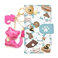 freetel SAMURAI MIYABI(5) 全機種対応 手帳型スマホケース 携帯カバー スマホカバー[カード収納/スタンド機能/全面保護/耐衝撃]プレゼント 人気 おしゃれ かわいい 猫 キーリング付 diary-cat (ブルー×マンチカン)