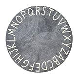 子供部屋装飾カーペット,英語のアルファベットの円形の床のマット 安全な子供のパズル プレーマット 120 * 120 cm-C