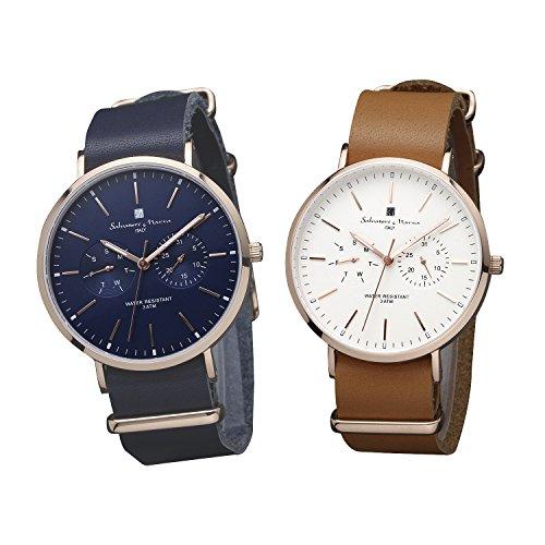 [サルバトーレマーラ]Salvatore Marra 腕時計 SM15117 ペアBOX付き PGNVPG-PGWHPG ペアウォッチ メンズ レ...