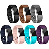 Fitbit Charge 2 Bands, mtsugar Original Version Adjustable Colorful Silicone Replacement Wristhband with Secure Buckle for Fitbit Charge 2