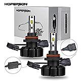 Hoperson HB4 9006 LEDヘッドライトバルブ50W 5500K 7200LM DC9-32V IP65 Seoul社製CSP LEDチップ 精確配光 車検対応 視認性向上 一体設計 簡単取り付け 一年保証