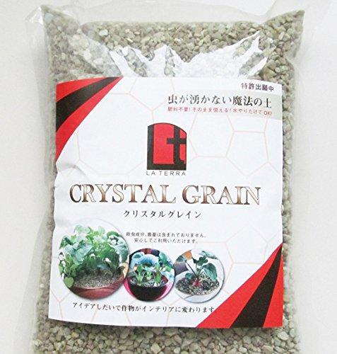 食卓における魔法の土 珪藻土から生まれた虫の湧かない魔法の土 クリスタルグレイン