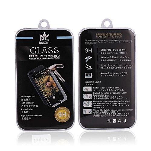 RoiCiel 液晶保護強化ガラスフィルム 硬度9H 超薄0.3mm 2.5D ラウンドエッジ加工 (iPhone7Plus)