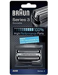 Braun razor Replacement Foil & Cutter Cassette 32B Series 3 320 330 340 350CC black shaving heads [並行輸入品]