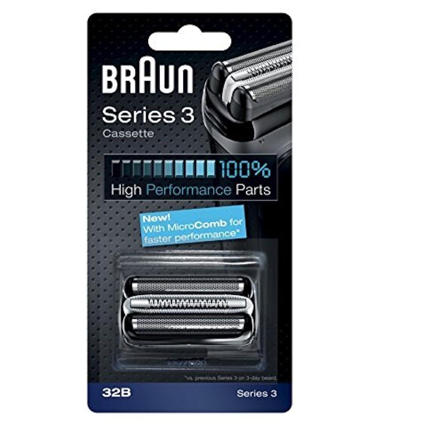ほとんどの場合ライオネルグリーンストリート却下するBraun razor Replacement Foil & Cutter Cassette 32B Series 3 320 330 340 350CC black shaving heads [並行輸入品]