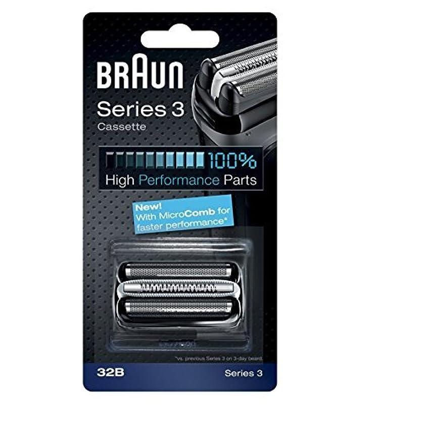 アピールバンジージャンプ専門用語Braun razor Replacement Foil & Cutter Cassette 32B Series 3 320 330 340 350CC black shaving heads [並行輸入品]