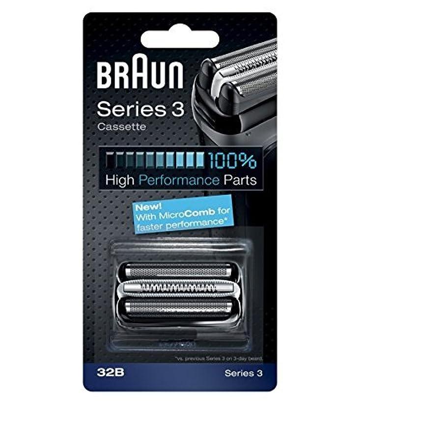 パラメータに渡って透過性Braun razor Replacement Foil & Cutter Cassette 32B Series 3 320 330 340 350CC black shaving heads [並行輸入品]