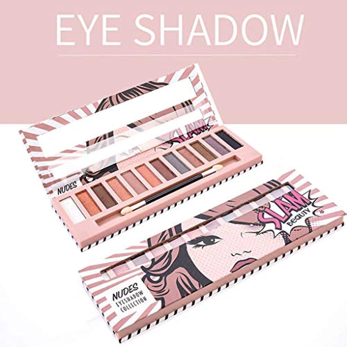 暴力的なハイキング準拠Akane アイシャドウパレット NUDES Slam Beauty 綺麗 マット 可愛い ファッション おしゃれ 人気 長持ち 持ち便利 Eye Shadow (12色)