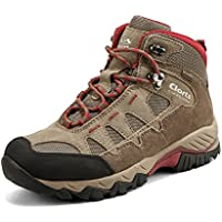 Clorts Women's Hiker Leather Waterproof Hiking Boot Outdoor Backpacking Shoe HKM823
