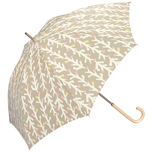w.p.c(WPC) 【長傘】【軽くて丈夫で持ちやすい】冬の森 (雨傘/レディース)【ベージュ/58】