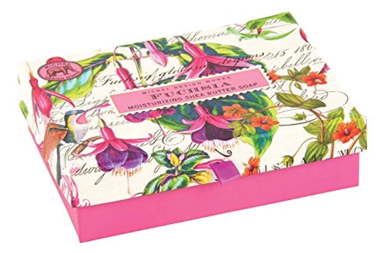 用語集ラジカルに負けるMichel Design Works Triple Milled Double Soap Box Set, Fuchsia [並行輸入品]