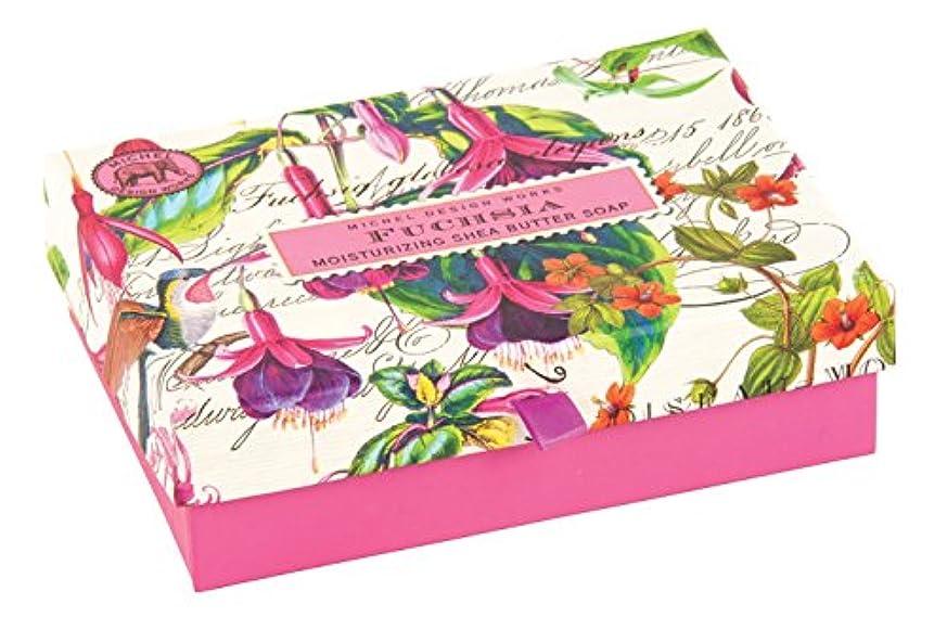 固体投げる届けるMichel Design Works Triple Milled Double Soap Box Set, Fuchsia [並行輸入品]