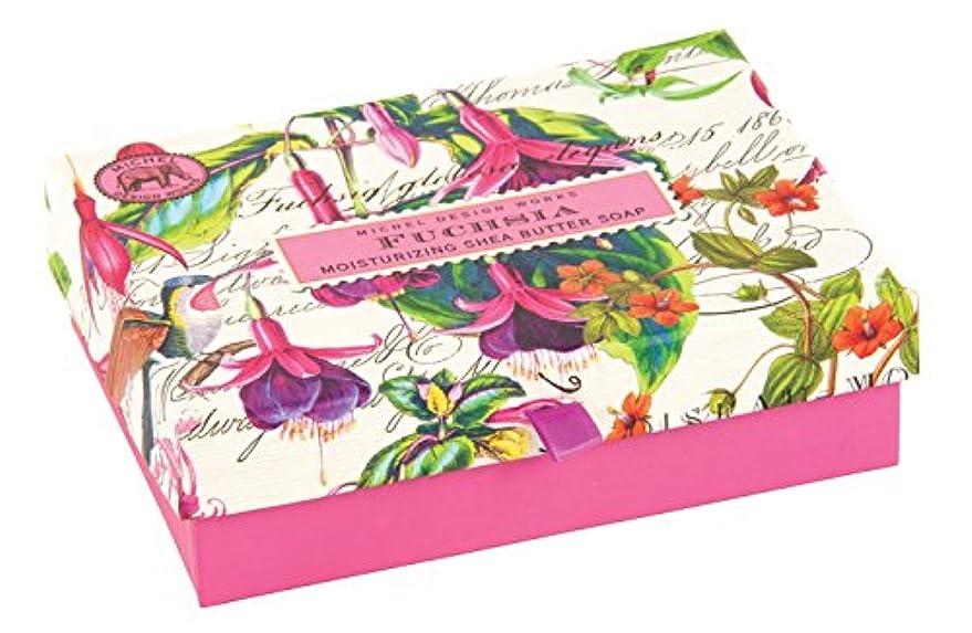 キャプテンブライ連邦チケットMichel Design Works Triple Milled Double Soap Box Set, Fuchsia [並行輸入品]