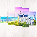 Pintoo HN1007 キャンバスパズルセット - ドイツ - ノイシュバンシュタイン城の朝焼け プラスチック 632ピース