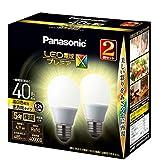 パナソニック LED電球 口金直径26mm プレミアX 電球40形相当 温白色相当(4.9W) 一般電球 全方向タイプ 2個入り 密閉器具対応 LDA5WWDGSZ42T