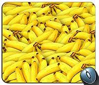 パソコンマウスパッド、マウスパッド、マウスパッド、バナナフルーツイエローデザインマウスパッド