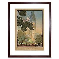 Rachael Robinson Elmer American Metropolitan Tower Summer Framed Wall Art Print アメリカ人タワー夏壁
