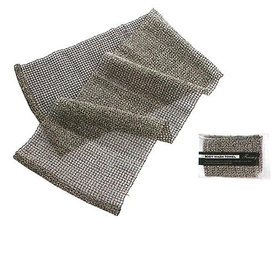 ベッド床を掃除するランプボディウォッシュタオル フォーミー(ブラック) 1個