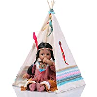NPKDOLL Rebornベビー人形インディアンスタイルブラックスキン20インチ50 cmシミュレーションSiliconeビニールLifelike Vivid Boy Girl Toyホワイトテント