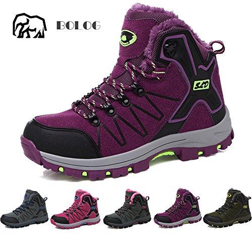 [해외]BOLOG 트레킹 슈즈 남성 | 숙녀 등산화 하이킹 신발 하이킹 신발 야외 캠핑 신발 니카 보온 방수 미끄럼 방지/BOLOG Trekking shoes Men`s | Ladies` hiking shoes Hiking shoes Walking shoes Outdoor camping shoes High cut sneakers Keep warm W...