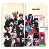 [ALL] iPhone es/iPhone6/iPhone6s/iPhone7/android対応【PETS ROCK ペッツロック】手帳型/動物/スマホケース/カバー/海外セレブ/ブランド