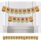 Big Dot of Happiness Pumpkin Patch - Fall Baby Shower Party Bunting Banner - Pumpkin Party Decorations - Welcome Baby [並行輸入品]