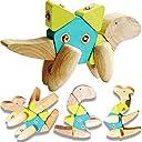 ColorGo 木製のおもちゃ 恐竜シリーズ 子供 おもちゃ ブロック 17ピース 3D 木製パズル 知育玩具 木のおもちゃ 動物 組み立て DIY 立体パズル 幼児 6歳から 人気 積み木 知育パズル 男の子 女の子 プレゼント