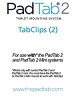 PadTab 2 : ( 2 Extra tabclips ) for use with the PadTab 2ユニバーサルタブレット壁マウントシステム