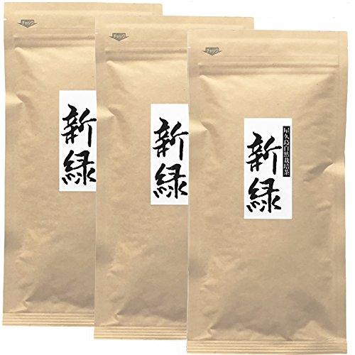 """《 私たちが作った""""徳用煎茶""""です 》 屋久島自然栽培茶「新緑」100g×3..."""
