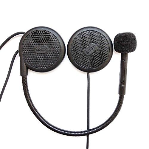 ニコマク NikoMaku 高音質 バイク ヘルメット用 インカム ヘッドセット Bluetooth 4.0 薄型 ブルートゥース ハンズフリー オートバイ スピーカー イヤホンマイク マイク付き インカム用 日本語説明書 一年品質保証付き 音楽/音声コントロール/通話 安全便利