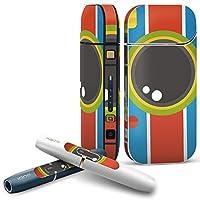 iQOS 2.4 plus 専用スキンシール COMPLETE アイコス 全面セット サイド ボタン スマコレ チャージャー カバー ケース デコ カメラ 赤 青 緑 010283