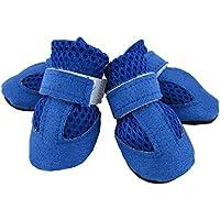 メッシュソフトシューズ 靴 シューズ 1足分4個セット ブルー Lサイズ