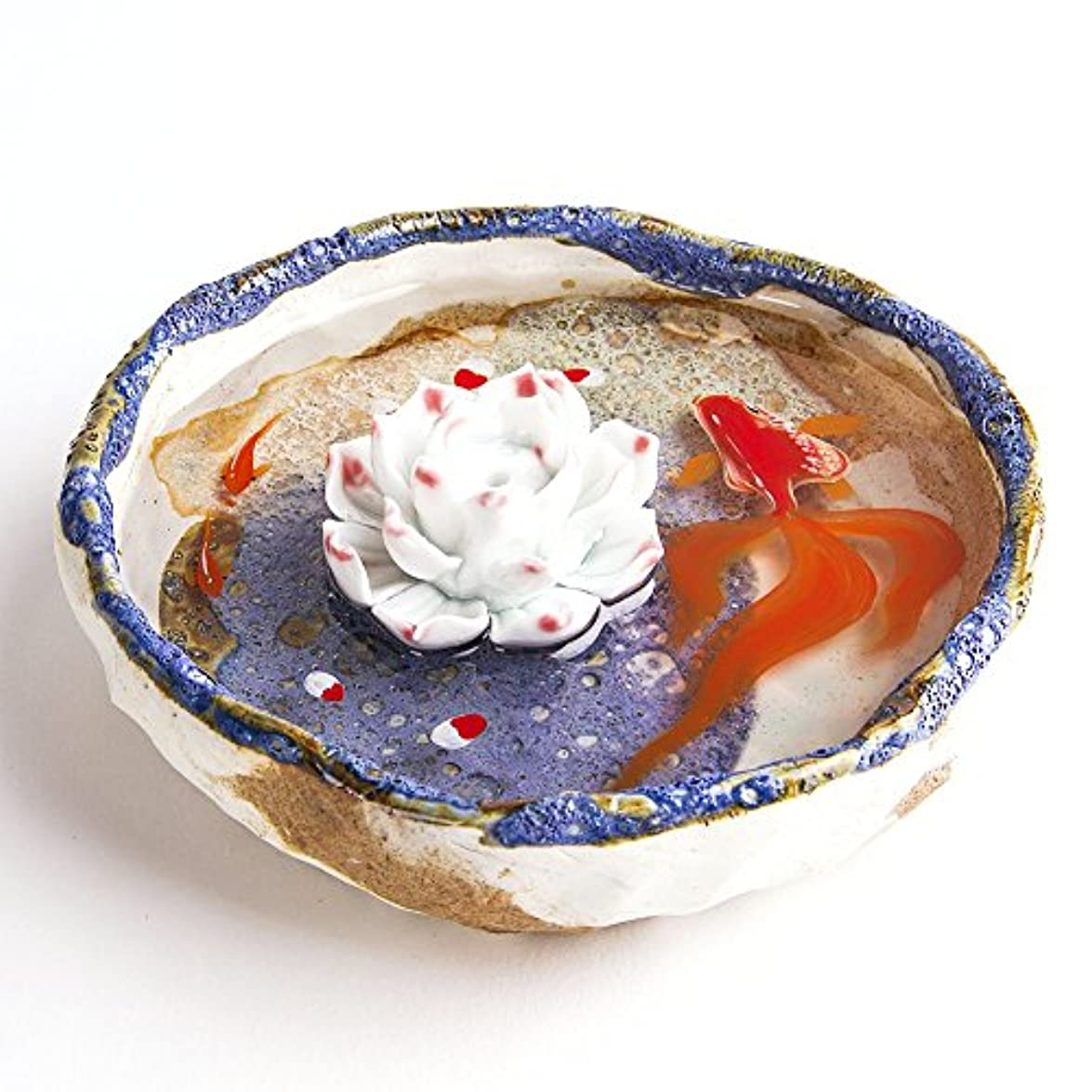 統計法律により形お香立て お香たて 香の器 お香を焚いて 香皿,陶磁器、ブルー